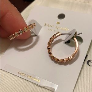 NWT Authentic KS Rose Gold hoops